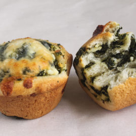 Spinach Cheese Pizza Muffins